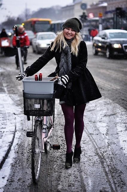 enjoyable winter cycling